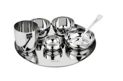 Stainless Steel Dinner Plate Set