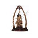 Brass Cow Krishna Statue Arch