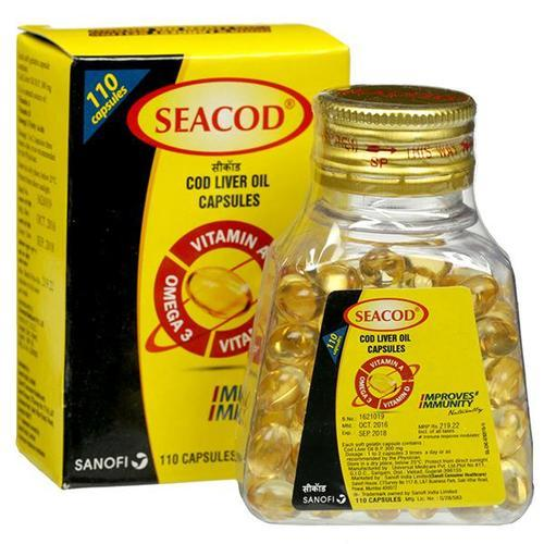 Картинки по запросу Omega3, E, D, Cod Liver Oil Capsules, Seacod,