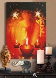 Buddha Meditating Wall Art With Led Lights