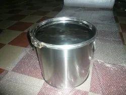 银SS食品容器,为酒店,容量:5 LTR到210 LTR
