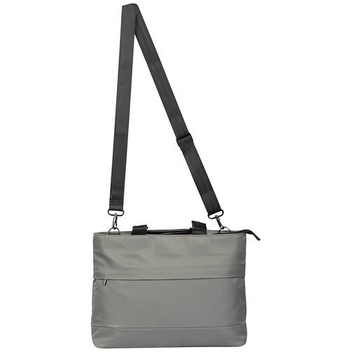 Grey Plain Designer Laptop Bag for Women