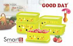 Smart 5 Pc Plastic Container Set