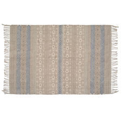 Cotton Printed Designer Handmade Rug