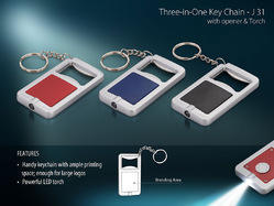 Keychain 3 in 1 with Opener & Torch