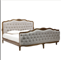 83inchl X 77.5inchw X 50inchh Upholstered Bed Clara