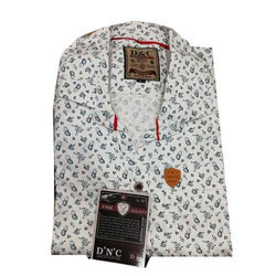White D & C Mens Designer Shirt