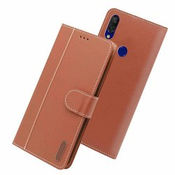 gold mobile flip cover leather