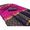 Party Wear Ladies Sico Silk Saree, Machine Made, 6.3 m (with blouse piece)