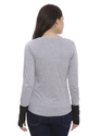Ladies Full Sleeves Grey T Shirt
