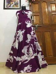 Crepe Floral Printed Gown