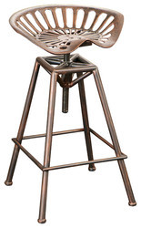 Industrial Tractor Seat Counter Stool, Metal Furniture