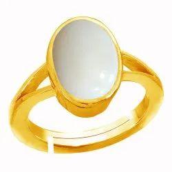 Opal Stone Gold Ring Panchdhatu Gemstone