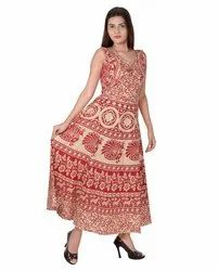 Ladies Printed Cotton Frock