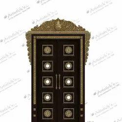 pooja room door design for home
