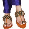 Party Wear Hue Ladies Kolhapuri Slipper