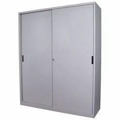 Fonzel Metal Sliding Door Cupboard With Single Shelf