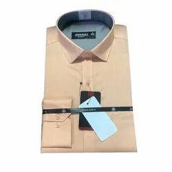 Plain Collar Neck John Navy Men Formal Shirt, Handwash, Size: 38