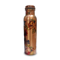 YesNo.in Standard Printed Copper Bottle, for Daily Usage, Capacity: 1 Litre