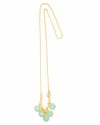 Aqua Chalcedony Gemstone Necklace