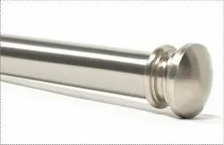 End Cap Satin Silver Extendable Curtain Rod