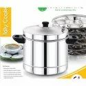 6 Plate Stainless Steel Idly Cooker