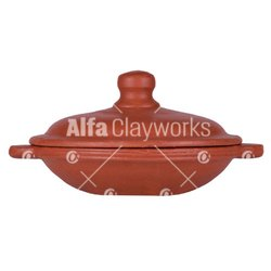 Terracotta Clay Appam Khadai with Lid