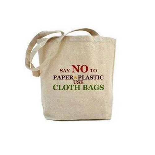 Image result for plastic bags vs cloth bags