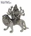 White Metal Durga Maa Statue