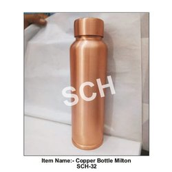 SCH Screw Cap Milton Copper Water Bottle, Capacity: 900 Ml