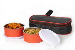 Best Steel Lunch Box Stainless Steel 2 Container Lunch Box Leakproof Containers Tiffin Set with Bag