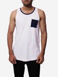 Round Casual Wear Men''S Cotton Tank Top