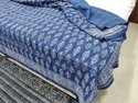 Hand Block Printed Cotton Kantha Bedcover