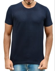 Navy Blue Causal Round Neck T-Shirt