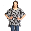 Cottinfab Casual Printed Women's Black Top