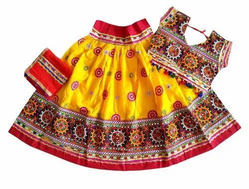 Traditional Rajasthani Lehenga Choli for toddlers Kutch Work Lehenga Choli for Baby Girl