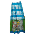 Kalamkaari Pallu Chanderi Silk Shibori Saree