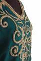 Embroidered Long Georgette Kaftan, Party Wear, Dubai Kaftan