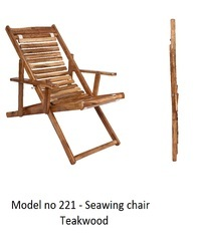 Teak Wood Seawing Chair, Size: 4 Feet, Finish: Polished