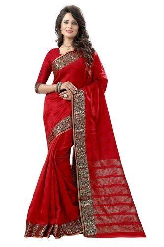 d5deedfa867 Pure Silk Wedding Wear   Festive Wear Kanchipuram Cotton Silk Saree ...