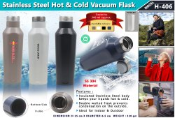 Stainless Steel Hot & Cold Vacuum Flask H-406