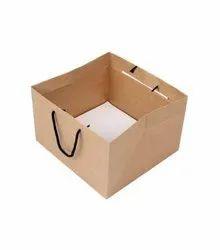 Kraft Bag Brown Cake Shop Paper Bags, For Shopping, Capacity: 0.5 Kg To 2.5 Kg