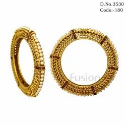 Antique Indian Wedding Bangles, Packaging Type: Plastic Pouch