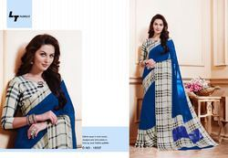 L.G.Grace Satin Border Saree