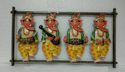 Iron Decorative Standing Ganesha Wall Frame, Packaging Type: Box