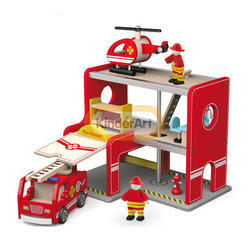 Fire Station with Accessories Toy