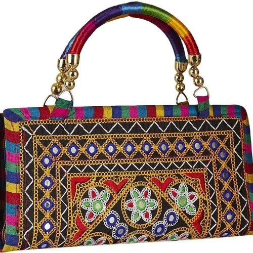 cc6376e81d Women & Girls Indian Ethnic Kutch Work Embroidered Hand Clutch Bag ...