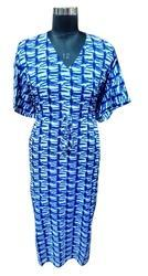 Indigo Blue Cotton Kaftan Dress
