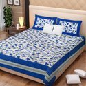 Designer Printed Cotton Double Bed Sheet