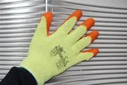 Orange On Yellow Latex Coated Gloves
